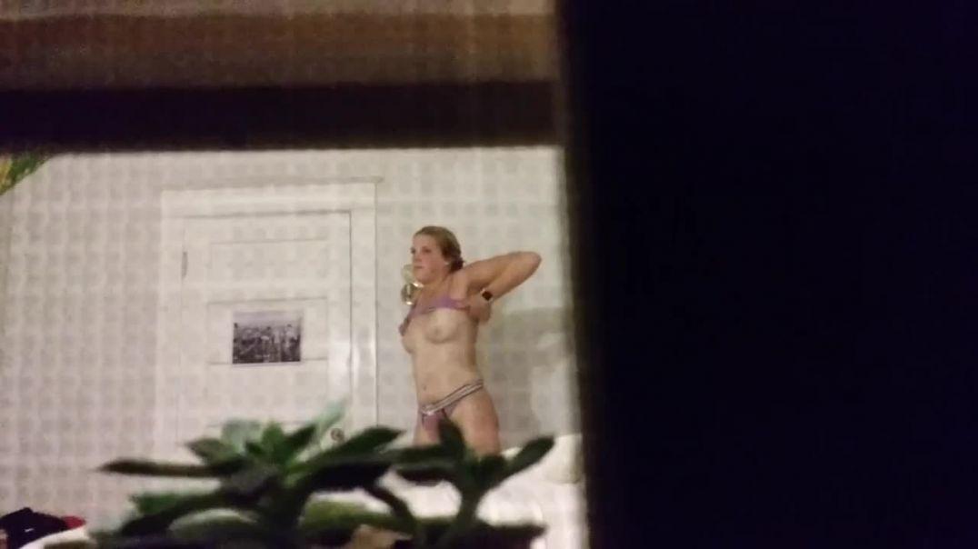 Pink panties blonde
