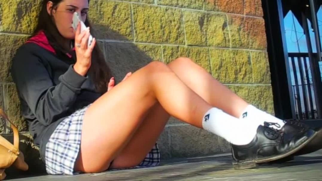 all schoolgirls should sit like this