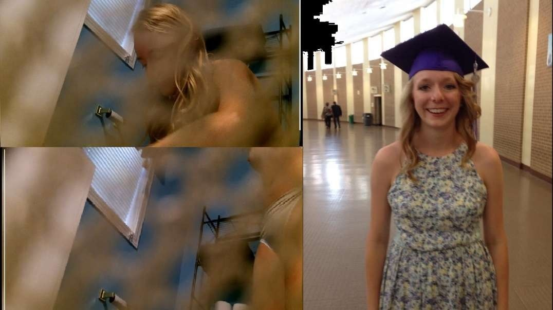 Conservative Blonde Teen Spied By a Friend