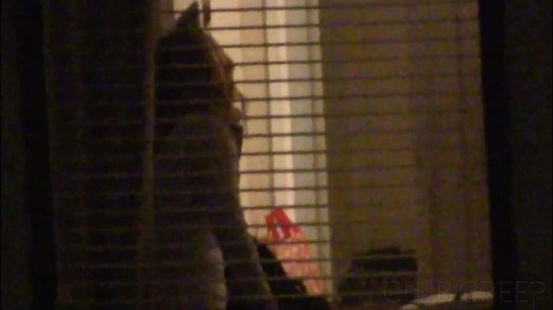 Brunette Halloween - Friend's Vag Capture Voyeur Window Peep