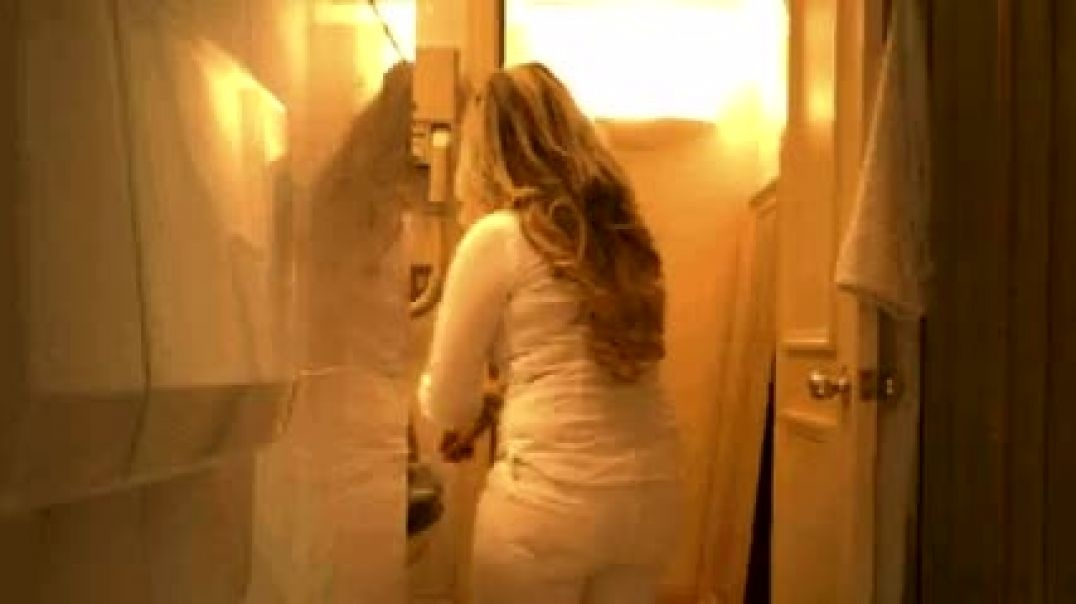 curvy busty escort spied in hotel shower 1
